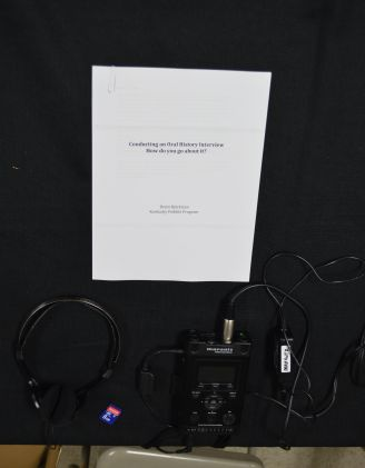 Recording equipment and oral history packet