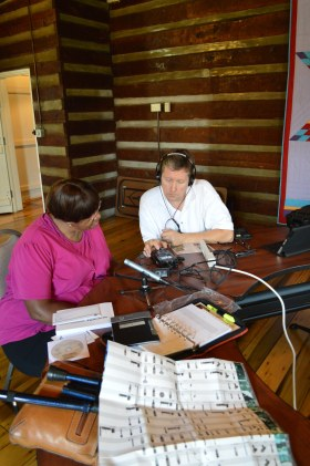 Brent and Maxine Ray test out the new equipment.