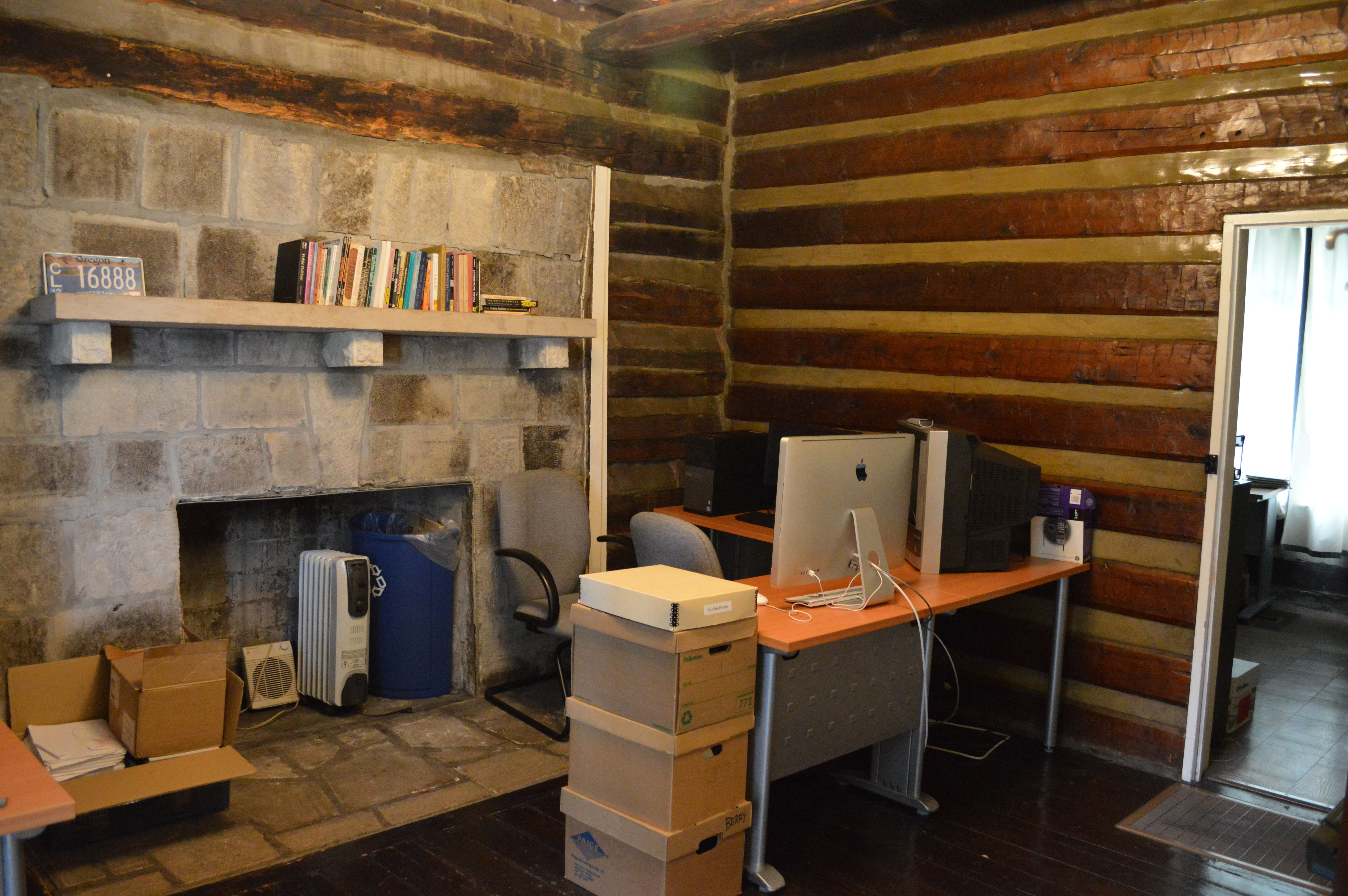 Kfp moves to the pioneer log cabin kentucky folklife program an almost finished office publicscrutiny Image collections