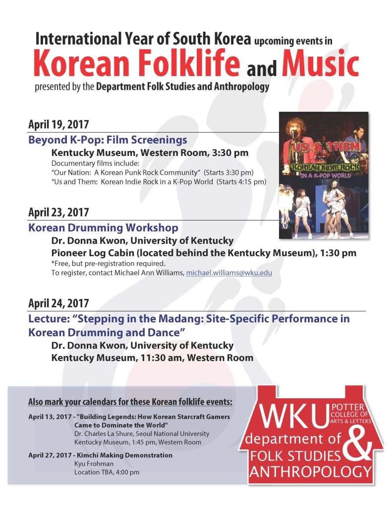 Korean Folklife Events Poster